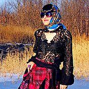 Одежда ручной работы. Ярмарка Мастеров - ручная работа Блузка с вышивкой и кружевом (№224). Handmade.