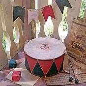Для дома и интерьера ручной работы. Ярмарка Мастеров - ручная работа Барабан большой, старый.... Handmade.