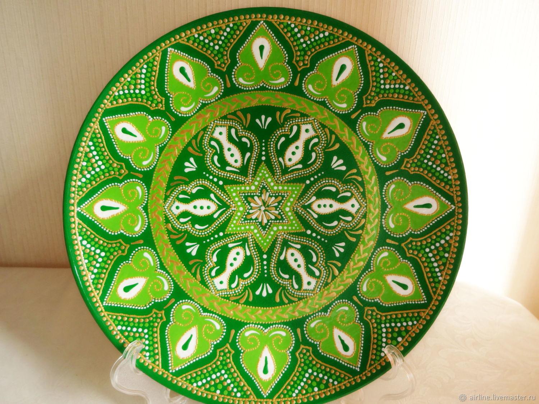 Декоративная тарелка Зеленый сад, Тарелки, Москва, Фото №1