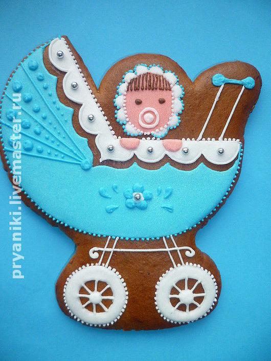 """Кулинарные сувениры ручной работы. Ярмарка Мастеров - ручная работа. Купить Пряники расписные  """"Малыш в коляске""""архангельские козули. Handmade."""