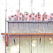 Для дома и интерьера ручной работы. Ярмарка Мастеров - ручная работа Полочка Розовый город. Handmade.