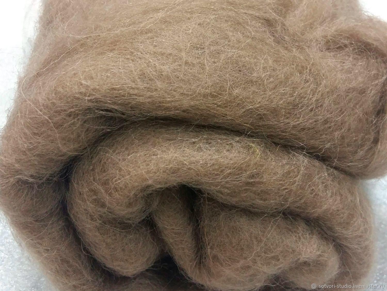 Волокна: Шерсть кардочесаная , 25 мкн (Троицкая), Войлок, Омск,  Фото №1