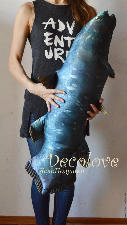Подарки для мужчин, ручной работы. Ярмарка Мастеров - ручная работа. Купить Огромная Рыба подушка Латимерия. Подарок мужчине на день рождения. Handmade.