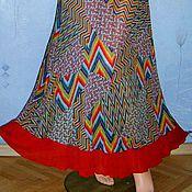 Одежда handmade. Livemaster - original item The floor-length skirt from Maliki with flounce. Handmade.