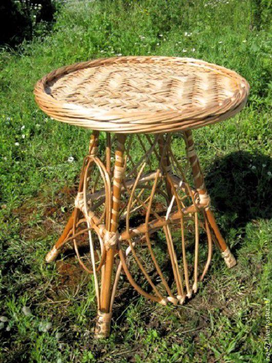 Мебель ручной работы. Ярмарка Мастеров - ручная работа. Купить Стол круглый, плетеный из лозы.. Handmade. Стол, круглый, плетеный