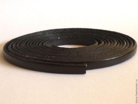 Для украшений ручной работы. Ярмарка Мастеров - ручная работа. Купить Кожаный шнур 5х2мм матовый черный. Handmade.