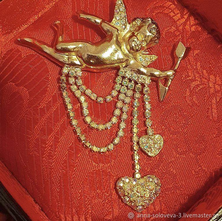 Golden Cupid Brooch Kirks Folly (Kirks Folly), Vintage brooches, Moscow,  Фото №1