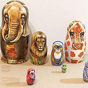 Русский стиль handmade. Livemaster - original item African Animals Matryoshka Nesting Dolls 7 pcs. Handmade.