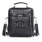 Сумки и аксессуары handmade. Livemaster - original item Brutal men`s bag made of crocodile leather, in black.. Handmade.