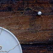 Украшения handmade. Livemaster - original item Decoration on the neck with a pearl