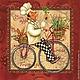 Декупаж и роспись ручной работы. Ярмарка Мастеров - ручная работа. Купить Веселый повар на темном (SLOG020302) - салфетка для декупажа. Handmade.
