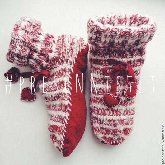 Носки, Чулки ручной работы. Ярмарка Мастеров - ручная работа. Купить Вязаные носочки. Handmade. Носочки вязаные, новогодние носки