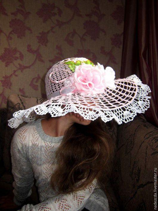 Шляпы ручной работы. Ярмарка Мастеров - ручная работа. Купить Симфония шляпок. Handmade. Белый, шляпа с полями