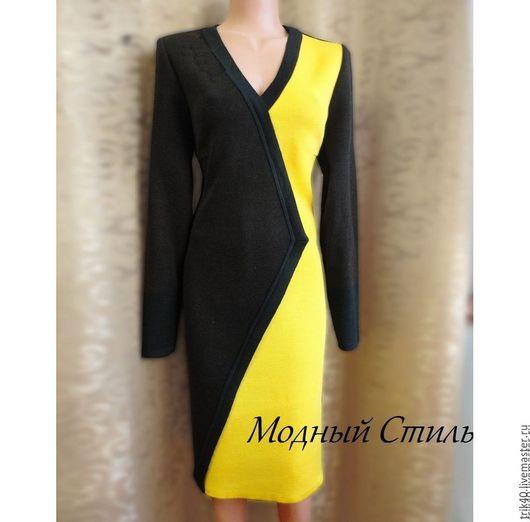 """Платья ручной работы. Ярмарка Мастеров - ручная работа. Купить Платье """"Мадонна"""". Handmade. Желтый, Платье нарядное, платье коктейльное"""