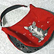 handmade. Livemaster - original item Bag-bag Corgi. Handmade.