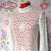 Одежда ручной работы. Ярмарка Мастеров - ручная работа блузка Сливочная пенка. Handmade.