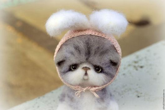 Котенок Стеша. Игрушка из шерсти. Ручная работа.  Макарова Алина