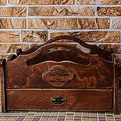 """Для дома и интерьера ручной работы. Ярмарка Мастеров - ручная работа Чайный сервировочный короб - поднос  """"Vintage"""". Handmade."""
