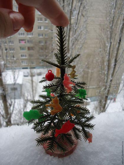 Винтажные куклы и игрушки. Ярмарка Мастеров - ручная работа. Купить Мини - елочка  с игрушками СССР (винтаж). Handmade. Зеленый