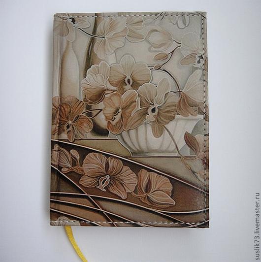 """Персональные подарки ручной работы. Ярмарка Мастеров - ручная работа. Купить ежедневник """"Цветы"""". Handmade. Подарок"""