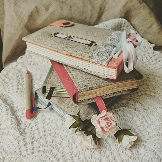 Блокноты ручной работы. Ярмарка Мастеров - ручная работа. Купить Блокнот А6. Handmade. Подарок, подарок девушке, блокнот а6