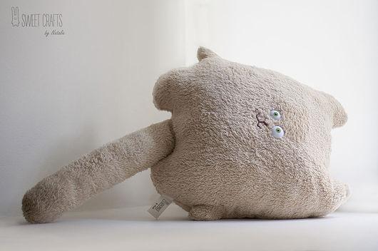 Текстиль, ковры ручной работы. Ярмарка Мастеров - ручная работа. Купить Плюшевая подушка-игрушка Бежевый Кот. Handmade. Бежевый