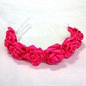 Украшения ручной работы. Ярмарка Мастеров - ручная работа Венок на голову с розами в стиле казанши. Handmade.