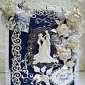 Открытки ручной работы. Ярмарка Мастеров - ручная работа Свадебная открытка ручной работы, пригласительный на свадьбу. Handmade.