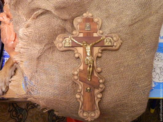 Подвески ручной работы. Ярмарка Мастеров - ручная работа. Купить Резной крест .. Handmade. Коричневый, крест ручной работы