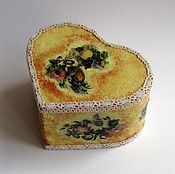 Для дома и интерьера handmade. Livemaster - original item Box decoupage Heart gift. Handmade.