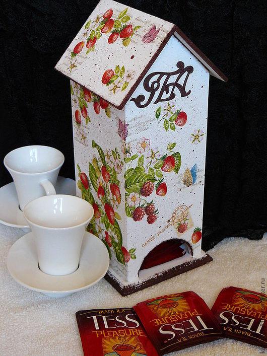 Кухня ручной работы. Ярмарка Мастеров - ручная работа. Купить Чайный домик. Handmade. Белый, сделаю на заказ, салфетки декупажные