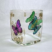 """Посуда ручной работы. Ярмарка Мастеров - ручная работа Ваза """"Бабочки"""". Handmade."""