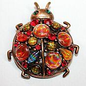 Винтаж handmade. Livemaster - original item Beautiful vintage brooch with stones