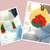 """Украшения ручной работы. Ярмарка Мастеров - ручная работа Комплект """"Английские цветы"""". Handmade."""
