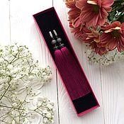 Украшения handmade. Livemaster - original item Earrings-tassels Luxury Purple pink purple fuchsia dark pink. Handmade.