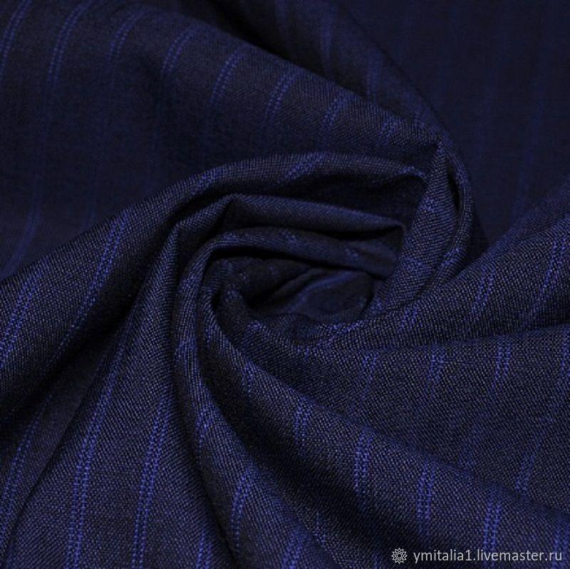 Ткани:Плательно-костюмная шерсть в полоску Зенья – купить на Ярмарке Мастеров – O1RVKRU | Ткани, Москва