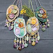 """Pendants handmade. Livemaster - original item Кулоны """"Крокусы"""".. Handmade."""