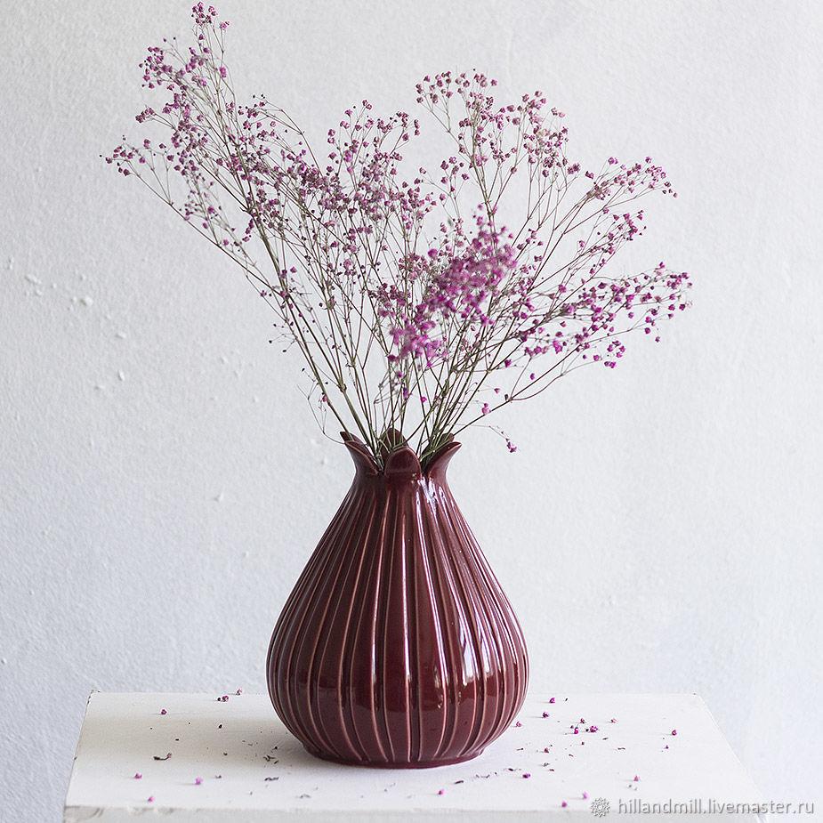 Vase 'Cherry M' 0.6 l, Vases, Vyazniki,  Фото №1