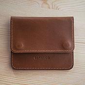 Сумки и аксессуары handmade. Livemaster - original item Pocket mini wallet / coin image leather Buttero Whiskey. Handmade.