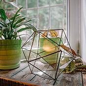 Вазы ручной работы. Ярмарка Мастеров - ручная работа Террариум геометрический, флорариум Кристалл. Handmade.