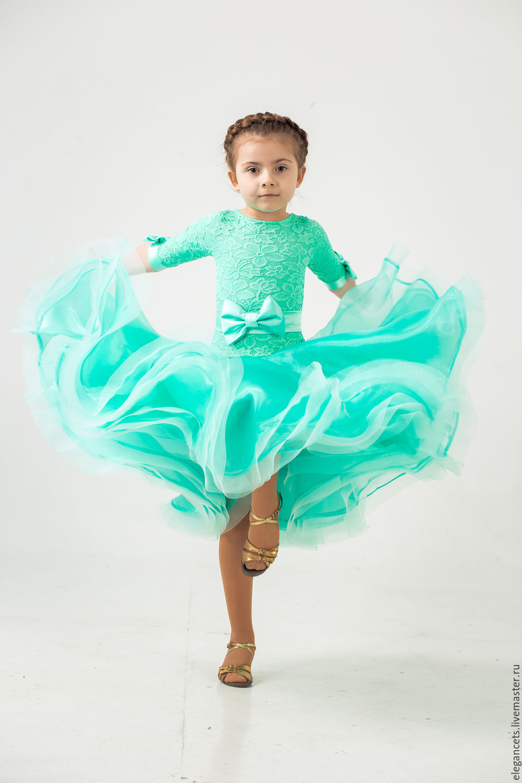 Children's Dance Costumes handmade. Livemaster - handmade. Buy Juvenal (basic) ballroom dress TIFFANI.Basic dress, lycra