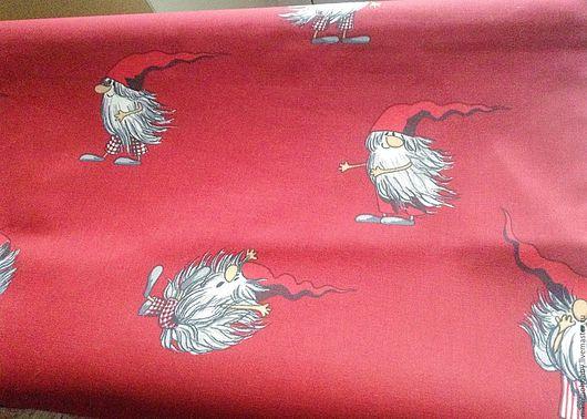 Шитье ручной работы. Ярмарка Мастеров - ручная работа. Купить Плотный хлопок 150 ширина для скатерти Гномы на ветру. Handmade.
