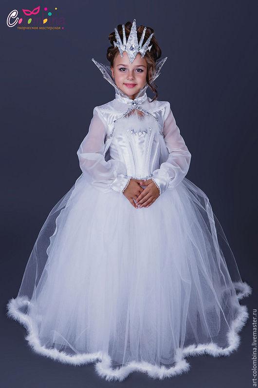 Детские карнавальные костюмы ручной работы. Ярмарка Мастеров - ручная работа. Купить Костюм снежной королевы. Handmade. Белый