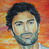 Картины и панно ручной работы. Ярмарка Мастеров - ручная работа Sendhil Ramamurthy портрет. Холст, масло.. Handmade.