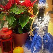 Сувениры и подарки ручной работы. Ярмарка Мастеров - ручная работа Костюм Снегурочки на бутылку. Handmade.