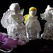 Для дома и интерьера ручной работы. Ярмарка Мастеров - ручная работа Ангел вязаный. Handmade.