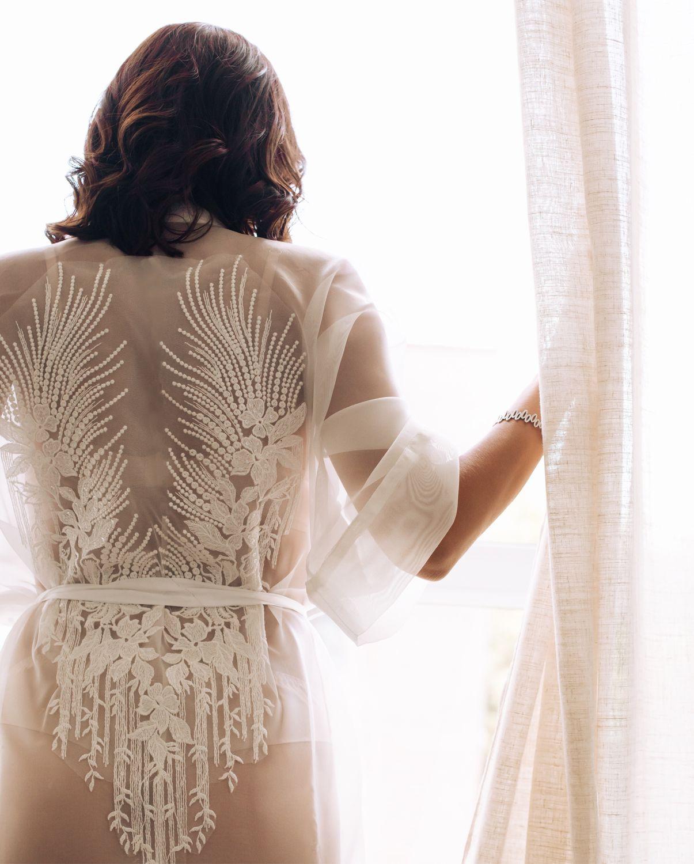 Шёлковый халатик невесты. Белое кимоно. Халат в пол для фотосессии, Пеньюары и белье, Пенза,  Фото №1