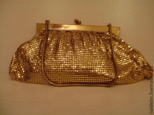 Винтажные сумки и кошельки. Ярмарка Мастеров - ручная работа. Купить Золотая винтажная  сумочка - кольчужка в стиле знаменитого американско. Handmade.