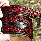 Аксессуары handmade. Livemaster - original item Leather belt with Celtic knot - color. Handmade.