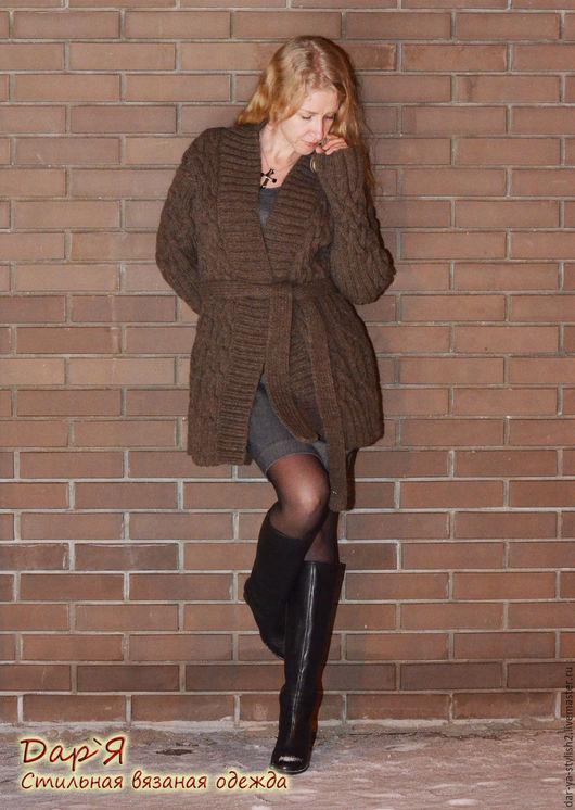 """Кофты и свитера ручной работы. Ярмарка Мастеров - ручная работа. Купить """"Celtica"""" вязаный женский кардиган или полупальто. Handmade."""